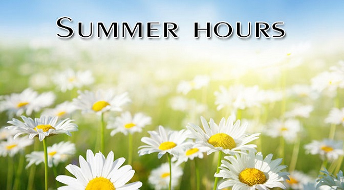 Summer Worship Hours
